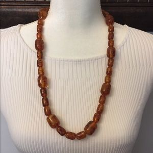 Amber necklace and 2 sets of matching earrings